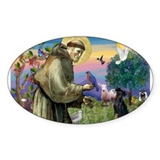 St. Francis & Min Pin Decal
