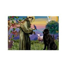 Saint Francis' Newfie Rectangle Magnet (10 pack)
