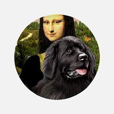 "Mona & her Newfie 3.5"" Button"