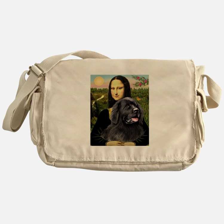 Mona & her Newfie Messenger Bag