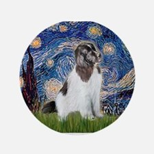 "Starry Night / Landseer 3.5"" Button"