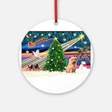 Xmas Magic & Norfolk T Ornament (Round)