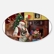 Santa's Norweigian Elkhound Decal