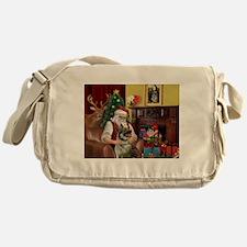 Santa's Norweigian Elkhound Messenger Bag