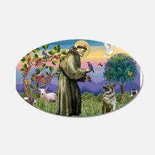 St Francis / Nor Elk 22x14 Oval Wall Peel