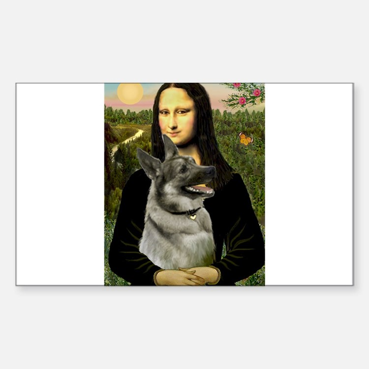 Mona & Norweign Elkhound Decal