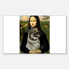 Mona & Norweign Elkhound Sticker (Rectangle)