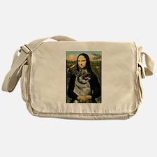 Mona & Norweign Elkhound Messenger Bag