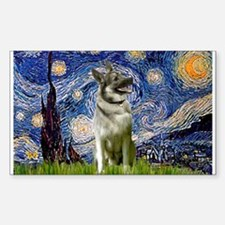 Starry Night Elkhound Decal