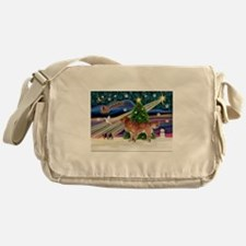 XmasMagic/Nova Scotia dog Messenger Bag