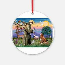 St Francis & Nova Scotia Dog Ornament (Round)