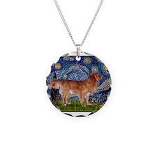 Starry Night Nova Scotia..... Necklace Circle Char