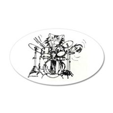 WILDCAT DRUMMER™ 22x14 Oval Wall Peel
