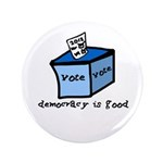 "Occupy Wall Street Democracy 3.5"" Button (100"