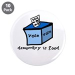 "Occupy Wall Street Democracy 3.5"" Button (10"