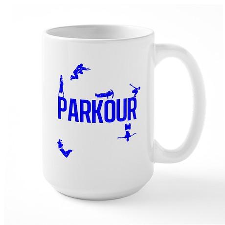 Parkour Crew (Blue) Large Mug