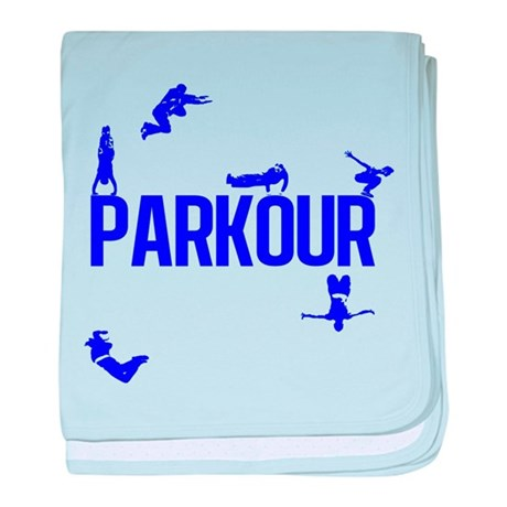 Parkour Crew (Blue) baby blanket