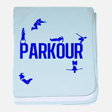 Parkour Crew (Blue) baby blanket