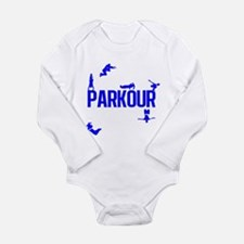 Parkour Crew (Blue) Long Sleeve Infant Bodysuit