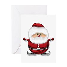 Digital Santa Greeting Card