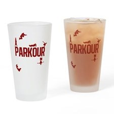 Parkour Crew (Red) Drinking Glass