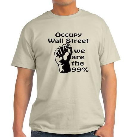 Occupy Wall Street Light T-Shirt