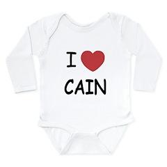 I heart Cain Long Sleeve Infant Bodysuit