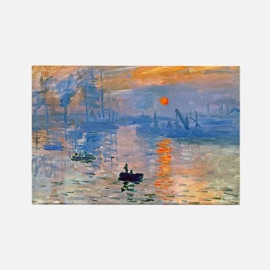 Monet - Sunrise Rectangle Magnet