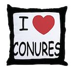 I heart conures Throw Pillow