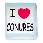 I heart conures baby blanket