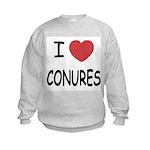I heart conures Kids Sweatshirt