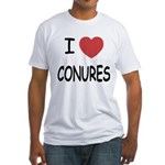 I heart conures Fitted T-Shirt