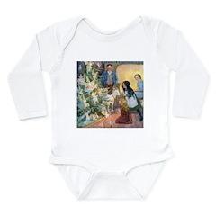 Christmas Tree Fairies Long Sleeve Infant Bodysuit