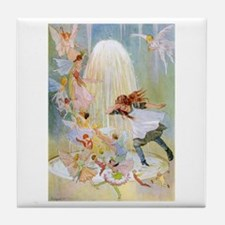 Dancing in the Fairy Fountain Tile Coaster