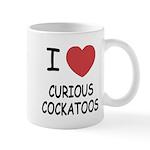 I heart curious cockatoos Mug