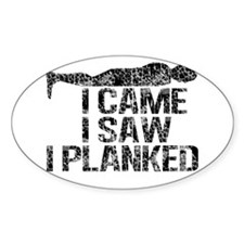 I Came, I Saw, I Planked Decal
