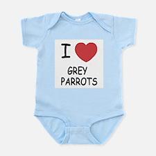 I heart grey parrots Infant Bodysuit