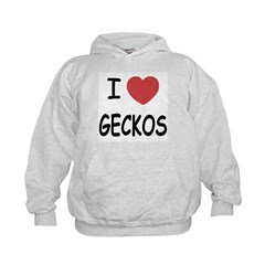 I heart geckos Hoodie