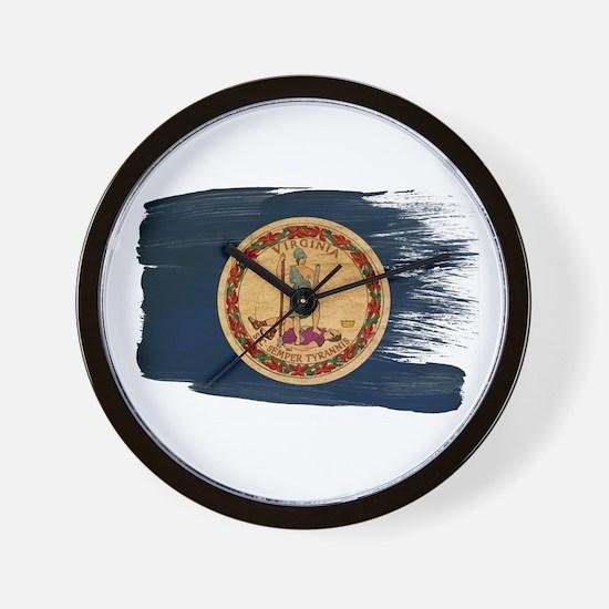 Virginia Flag Wall Clock