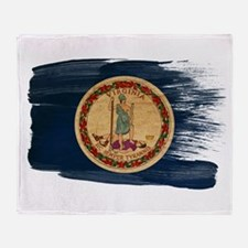 Virginia Flag Throw Blanket