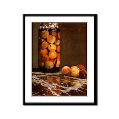 Peaches by Monet Framed Panel Print