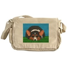 Tri Colored Corgi Messenger Bag