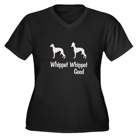Whippet Good Women's Plus Size V-Neck Dark T-Shirt