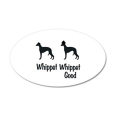 Whippet Good 22x14 Oval Wall Peel