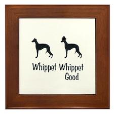 Whippet Good Framed Tile
