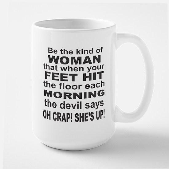 Oh Crap Devil Large Mug