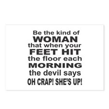 Oh Crap Devil Postcards (Package of 8)