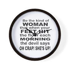 Oh Crap Devil Wall Clock