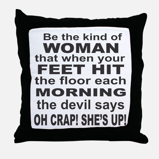Oh Crap Devil Throw Pillow