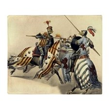 Knights of Europe Throw Blanket